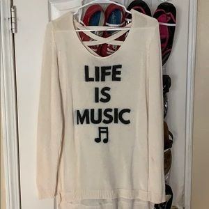 Life is Music Sweater